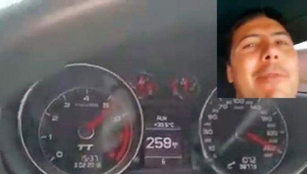 Video | Se filmó manejando a 260 km/h en la ruta
