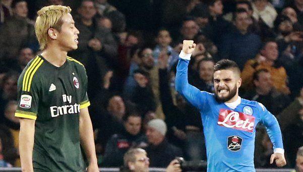Napoli empató ante Milan y se mantiene como escolta de Juventus