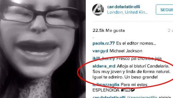 Criticaron a Cande Tinelli y ella respondió con un divertido video