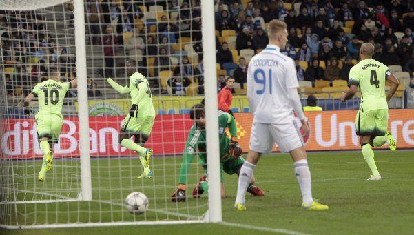 El City logró en Ucrania un triunfo que lo dejó al borde de la clasificación