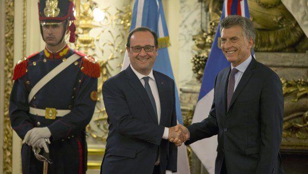 Hollande llegó al país y se reunió con Mauricio Macri