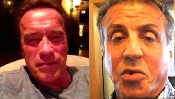 Oscar: Arnold consoló a Stallone y... ¡mirá la respuesta!