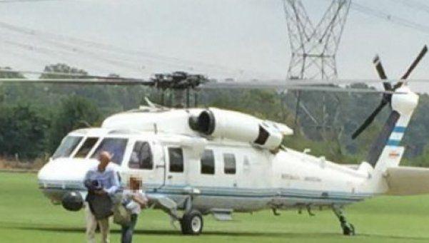Polémica por el uso del  helicóptero presidencial