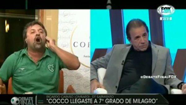 Caruso volvió con todo: su tremenda pelea en vivo con Cocco