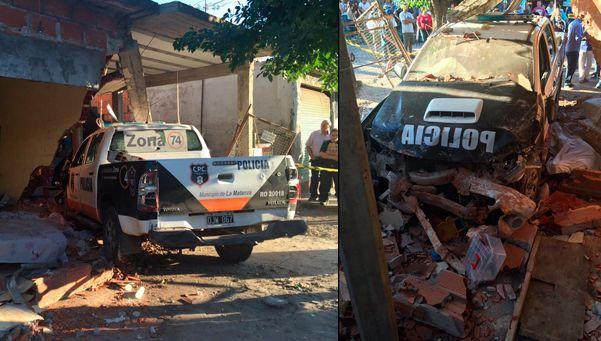 Otro patrullero asesino: chocó contra una casa y mató a un joven