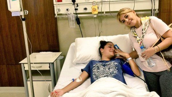 Jana Maradona, con infección en el riñón
