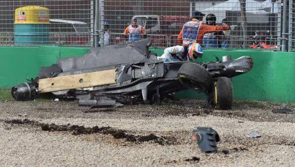 Impactante accidente del español Fernando Alonso en la Fórmula 1