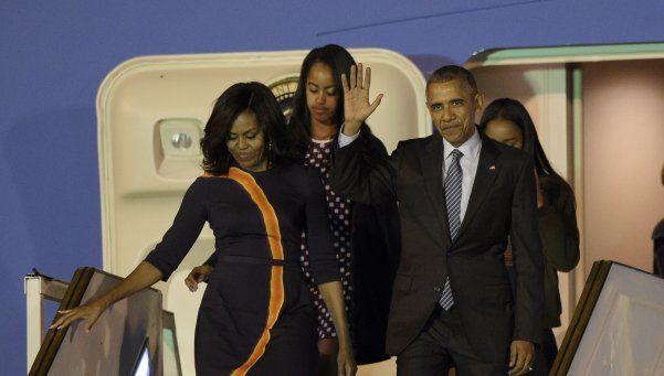 Así fue la llegada de Obama al país, en medio de un alerta mayor