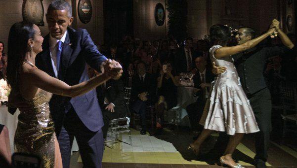 Macri y Obama cerraron la jornada con cena de gala