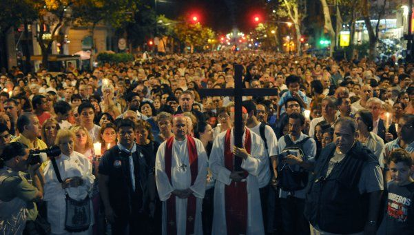 Se realizó el tradicional Vía Crucis en la Ciudad de Buenos Aires