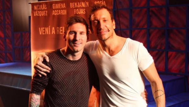 Esta vez, Messi en la tribuna: fue a ver a Nico Vázquez al teatro