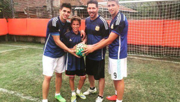 El Cholo Simeone será papá por cuarta vez