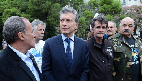 Macri homenajeó a los ex combatientes de Malvinas