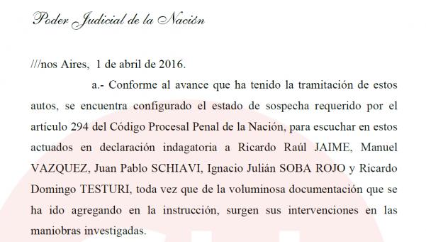 La resolución completa que ordena la detención de Jaime
