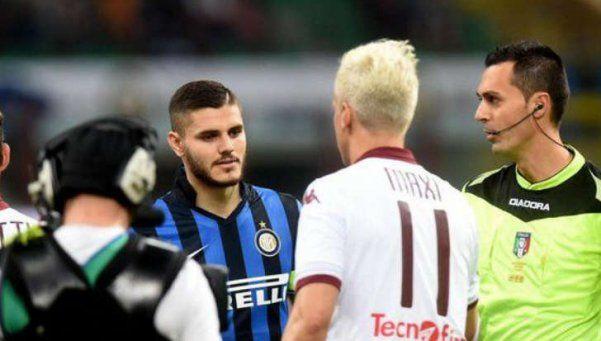 Video | Maxi le negó el saludo a Icardi... y algo más