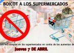 Convocan a nuevo boicot a supermercados para el 10 de mayo