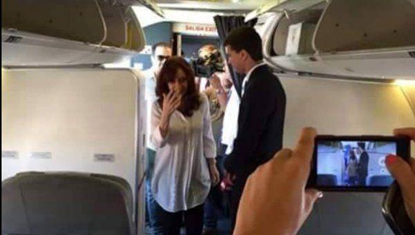 Cristina: milla a milla, el vuelo desde El Calafate a Aeroparque