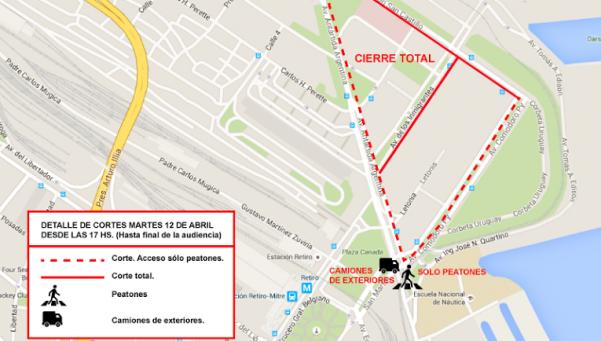 El Gobierno anunció megaoperativo para la declaración de Cristina