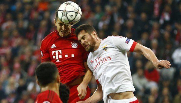 Bayern Munich igualó con Benfica y es semifinalista de la Champions