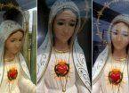 Aseguran que la imagen de una Virgen llora en un jardin