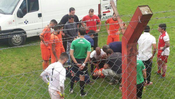 Fe de erratas sobre el choque del futbolista Almada