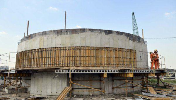 Planta Depuradora Fiorito está construida en un 65 por ciento