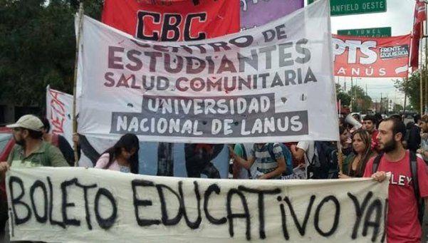 Reclamo por el boleto estudiantil suma protestas y se encamina a La Plata