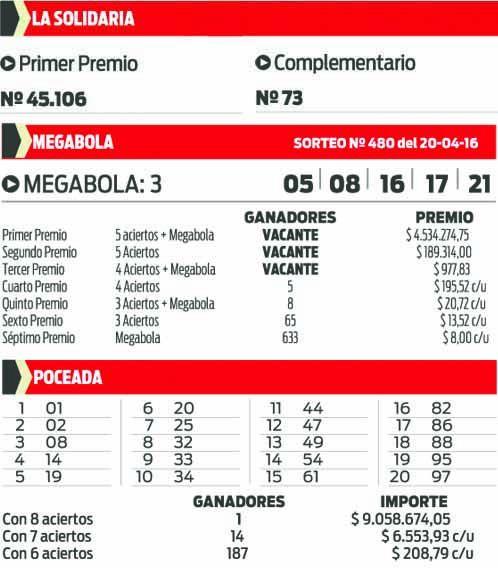 SOLIDARIA , MEGABOLA  Y POCEADA