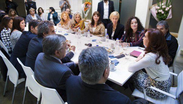 Así fue la reunión de Cristina con senadores en el Instituto Patria