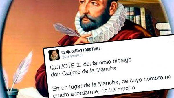 A 400 años de la muerte de Cervantes, el Quijote se lee por Twitter
