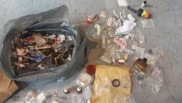 La bolsa de droga que escondió Prefectura
