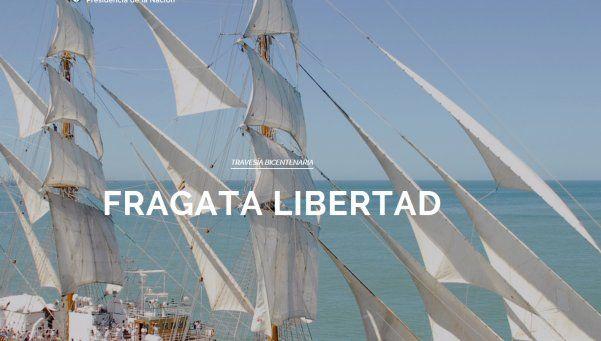 Un sitio web permite seguir el recorrido de la Fragata Libertad en tiempo real