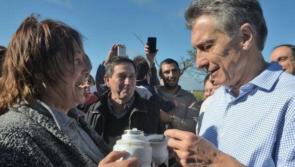 Macri visitó familias daminificadas por las inundaciones en Santa Fe