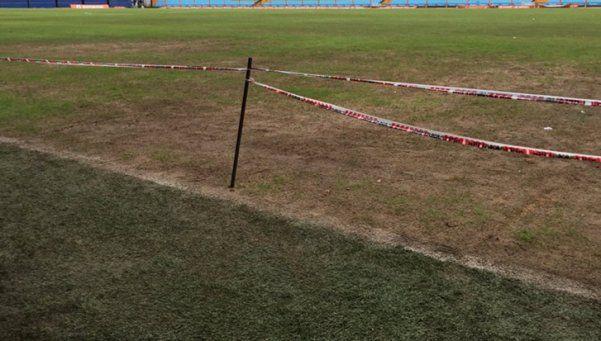 Así está el campo de juego de La Bombonera en la previa del Superclásico