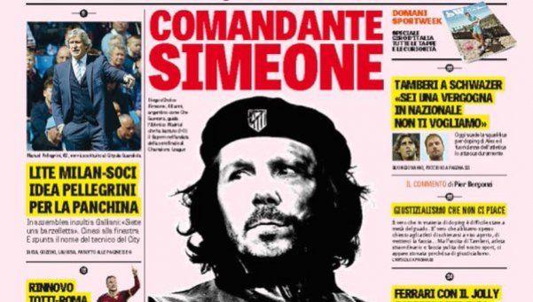 Comandante Simeone: la tapa que le rinde tributo al Cholo