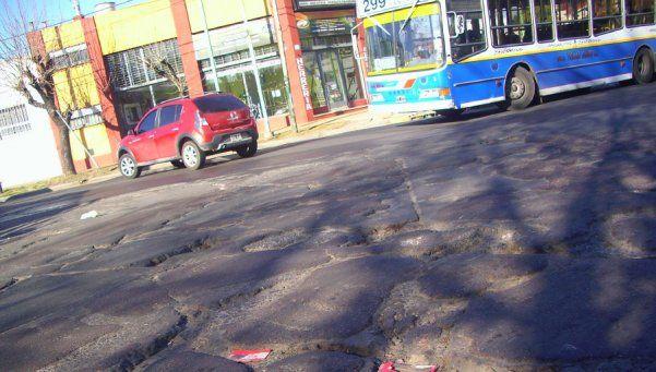 La bronca escala en Lanús por el estado de la calle Aconcagua