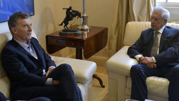 Mauricio Macri recibió a Mario Vargas Llosa en Olivos