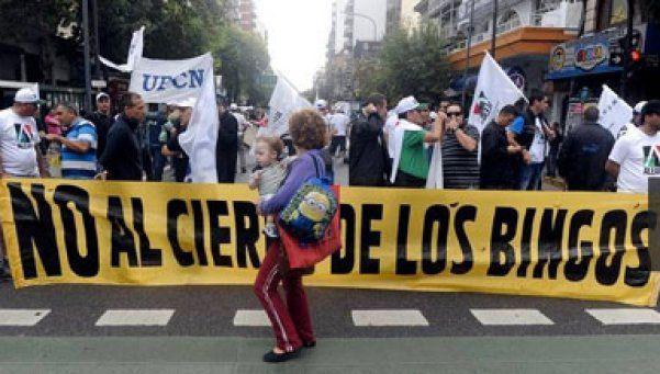 Cerraron cinco bingos porteños: 450 trabajadores en la calle