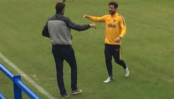 Guillermo probó a Osvaldo y podría volver el domingo