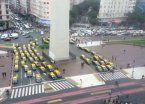 Taxistas volvieron a protestar contra Uber y cortaron 9 de Julio