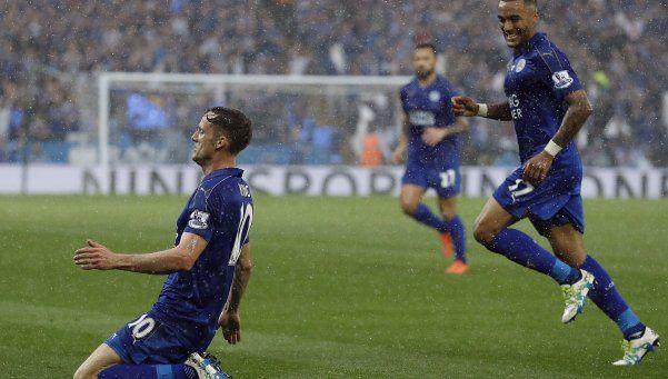 Leicester festejó el título con un triunfo sobre Everton