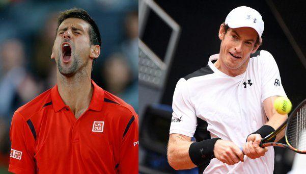 Masters de Madrid: Murray intentará defender el título ante Djokovic