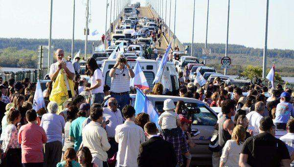 Nueva marcha contra pastera en Gualeguaychú