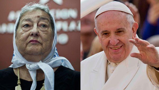 Bonafini ahora pondera al Papa porque cambió