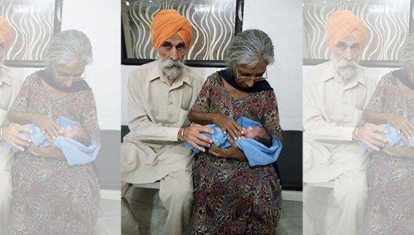 Mujer de 70 años dio a luz a su primer hijo