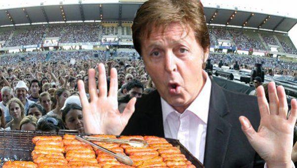 Confirmado: no se venderán choripanes en el recital de McCartney
