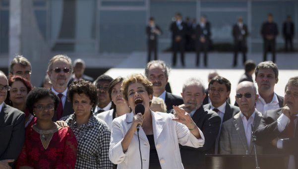 Dilma Rousseff brindó un duro discurso final: Esto es una farsa jurídica
