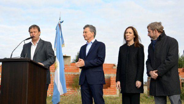 Macri relanzó plan de viviendas sociales en Almirante Brown