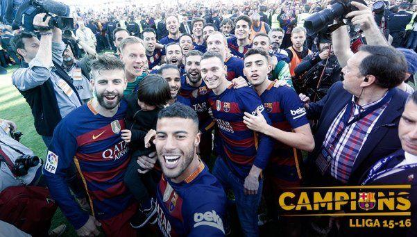 Así festejaron el título los jugadores de Barcelona en Twitter