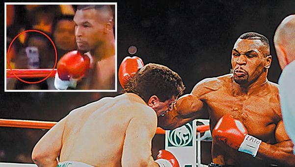Viajero del tiempo en una pelea de Tyson